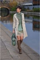 Light-brown-marsell-boots-turquoise-blue-dixie-dress-beige-zara-coat_med