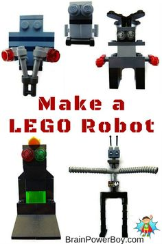 Make your own LEGO Robot! Super fun and easy LEGO project for kids. Make your own LEGO Robot! Super fun and easy LEGO project for kids. Lego Activities, Activities For Boys, Science For Kids, Lego Robot, Lego Duplo, Lego Projects, Projects For Kids, Lego Books, Lego Challenge