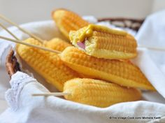 Baked Corn Dogs   The Domestic Mama & The Village Cook