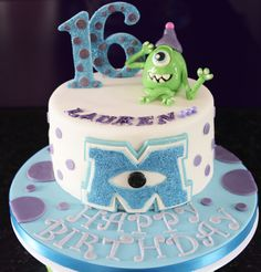 Monsters Inc themed Cake