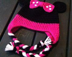 Crochet el sombrero de Minnie Mouse
