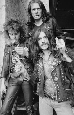 MOTORHEAD. Lemmy Kilmister & Fast Eddie Clarke & Philthy Animal Taylor