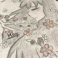 【shannonsenpai_】さんのInstagramをピンしています。 《Part 3/4 of Cute Little Girlies • • •  Tags: #doodle #art #drawing #months #May #girl #flowers #planner #sketch #date #digital #cherryblossoms #flowercrown #blossoms #tree》