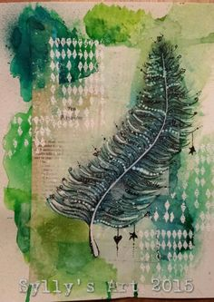 Sylly's Art 2015: Lifebook week 5 Affirmation feather