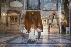 Sweet ring bearers and flower girl for Anne-Marie and Alessandro's wedding in Rome. www.weddingsinrome,com
