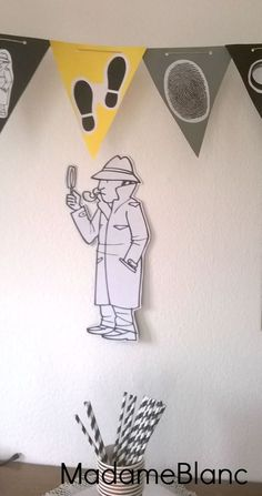 Detektivparty Deko Wimpelgirlande