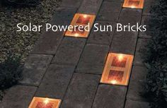 Create Lighted Pathways With Solar Powered Sun Bricks...http://homestead-and-survival.com/create-lighted-pathways-with-solar-powered-sun-bricks/