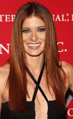 Debra Messing. Love her hair