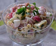 Salatka z selera konserwowego Fruit Recipes, Cooking Recipes, Healthy Recipes, Cooking Blogs, Buffalo Chicken, Salate Warm, Appetizer Salads, Tortilla, Pasta Salad