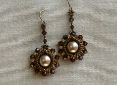 Sidonia's handmade jewelry - Half Tila Earrings tutorial