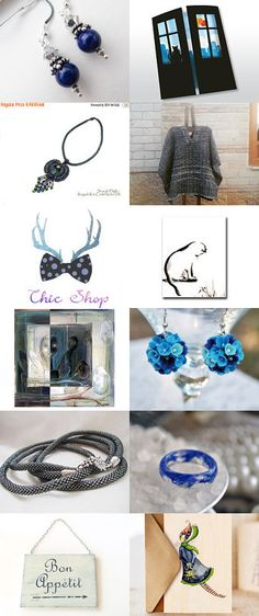 Blue and Friends by Julia on Etsy--Pinned with TreasuryPin.com