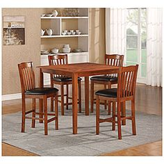 5 Piece Square Pub Set With Parquet Top From Big Lots