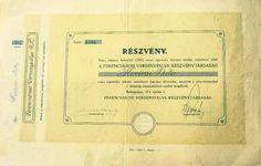 Original shares paper from 1911  Ferencvarosi Torna Club stadium trust