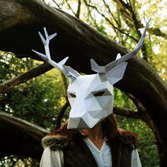 Stag or Reindeer full mask - Wintercroft  - 1