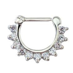 Women Septum Pierced Clicker Jewelry Trendy Septum and Nose Piercing Zircon Nose Hoop Rings Body Piercing Jewelry Septum Rings