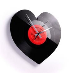 Heart Vinyl Clock, now featured on Fab.