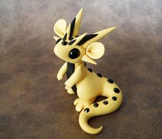 Yellow+and+Black+Scrap+Dragon+by+DragonsAndBeasties+on+Etsy