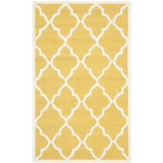 Safavieh Handmade Moroccan Cambridge Gold/ Ivory Wool Rug (2' x 3') | Overstock™ Shopping - Great Deals on Safavieh Accent Rugs