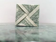 Dollar modular cube made with four one dollar bills Easy Dollar Bill Origami, Easy Origami, Origami Folding, Money Gifting, Creative Money Gifts, Birthday Money Gifts, Birthday Gift Wrapping, Origami Money Flowers, Money Origami