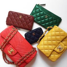 """9b0aa78c82ff Opulent Habits on Instagram: """"Rainbow Vibes 🌈💫3 SLGs, a Surpique Flap and  a Square Mini - yes, please! Want pricing? More photos? More information?"""