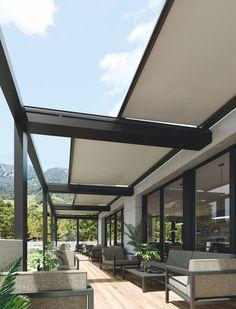 Rooftop Terrace Design, Courtyard Design, Outdoor Balcony, Outdoor Pergola, Modern Pergola Designs, Outdoor Barbeque, Conceptual Architecture, Terrace Restaurant, Canopy Design