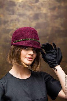 """Кепки ручной работы. Ярмарка Мастеров - ручная работа. Купить Кепи """"Бордо"""". Handmade. Бордовый, кепка, женская шапочка"""