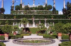 italian gardens next to lake - Google Search