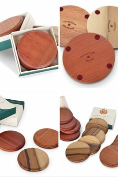 These Tasmanian Timber Coasters are made from the finest Blackwood, and lined with felt pads to protect your table surface.