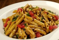 Firebird Pasta - (chili asiago cream sauce, penne pasta, chicken, apple wood-smoked bacon, green onions and tomato) - me starting to eat healthy.so giving this pasta a try:) I Love Food, Good Food, Yummy Food, Tasty, Great Recipes, Dinner Recipes, Favorite Recipes, Restaurant Recipes, Pasta Dishes