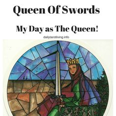 Queen of Swords - Tarot of the Cloisters. A stained-glass-effect tarot deck, which I would love to add to my collection. The Queen of Swords reminds me that at times I must avoid sentimentality and use my intellect instead of being ruled by my emotions Daily Tarot, Tarot Learning, The Cloisters, Oracle Cards, Tarot Decks, Archetypes, I Card, Swords