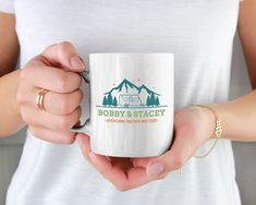 Custom Coffee Mug, Personalized Coffee Mug, Personalized Mugs With Your Name Text & Date, Personalized Gifts, Bridal Shower Gift Personalized Coffee Mugs, Personalized Gifts, Volume And Capacity, White Coffee Mugs, Bridal Shower Gifts, Mug Designs, White Ceramics, Unique Gifts, Microwave