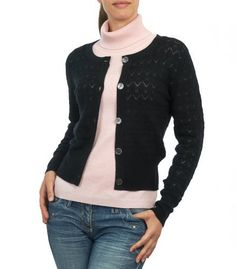 Womens Cashmere & Merino Knitted Pointelle Cardigan Wool Overs. $50.00
