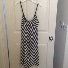 Old navy summer dress Worn once grey and white dress Old Navy Dresses Midi
