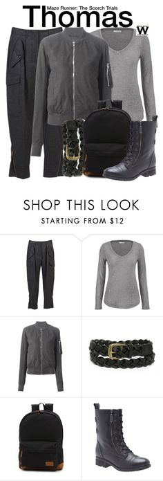 """""""Maze Runner - The Scorch Trials"""" by wearwhatyouwatch ❤ liked on Polyvore featuring STELLA McCARTNEY, maurices, Rick Owens, LULUS, Vans, Lane Bryant, wearwhatyouwatch and film"""