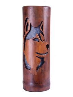 This unique bamboo lamp is very elegant for any home decoration style. It is handmade in our workshop from a natural bamboo pole and colored leaves, and creates a natural and modern atmosphere. Bamboo Light, Bamboo Lamp, Bamboo Poles, Bamboo Planter, Bamboo Building, Pvc Pipe Crafts, Colored Leaves, Pyrography Patterns, Bamboo Crafts
