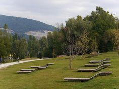 loungers on a slope, Lyon, France | by IN SITU