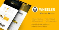 nice Wheeler - Taxi Enterprise &amp Cab Service Joomla Template (Travel)