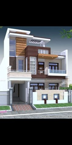 Ideas House Design Front View Modern For 2019 House Outer Design, House Outside Design, Small House Design, Cool House Designs, Modern Exterior House Designs, Modern Architecture House, Modern House Plans, Exterior Design, Exterior Paint