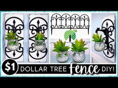 Dollar Tree Mirrors, Dollar Tree Frames, Dollar Tree Decor, Flower Picture Frames, Picture Frame Crafts, Wood Wall Decor, Tree Wall Decor, Diy Garden Fence, Thrift Store Crafts