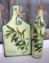 Imagen relacionada Decoupage Art, Decoupage Vintage, Bottle Painting, Bottle Art, Fabric Painting, Painting On Wood, Dyi Crafts, Paper Crafts, Candlestick Crafts
