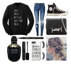 """""""im so sorry I haven't posted I was super busy"""" by a-v-a-196 ❤ liked on Polyvore featuring WithChic, Converse, Tod's, Alexander McQueen, Smith & Cult and Marc Jacobs"""