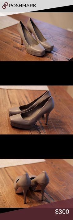 """Authentic Gucci pumps Excellent condition, square toe, approx. 1"""" platform and 3"""" total heel height, slight scuffing on the bottom Gucci Shoes Heels"""