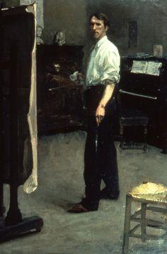 Hugh Ramsay - Portrait of artist standing before easel 1901