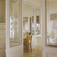 Interior stenciled doors