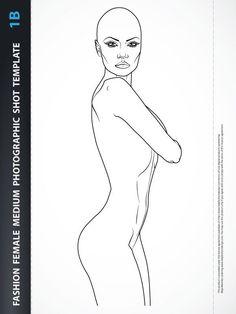Beachwear Design – Fashion Female Drawing Template 5A | Lady ...