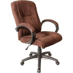 Arm rest office chair - Pin it :-) Follow us :-)) AzOfficechairs.com is your Office chair Gallery ;) CLICK IMAGE TWICE for Pricing and Info :) SEE A LARGER SELECTION of  arm rest office chair at http://azofficechairs.com/category/office-chair-categories/arm-rest-office-chair/ -  office, office chair, home office chair - Padded High-Back Faux Suede Executive Chair Color: Mocha Brown « AZofficechairs.com