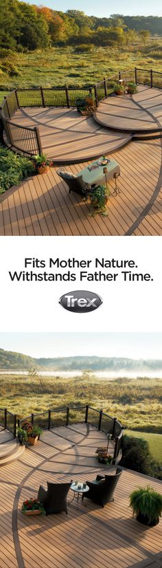 Eco-friendly inside and out, #Trex Composite Decking and Railing is made from 95% recycled materials, and is low-maintenance, so you can enjoy a pristine outdoor living space without the hassle or the guilt. Learn more about going green and low-maintenance deck life at trex.com