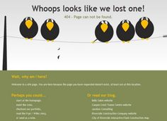 creative design 404 error page