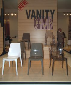 Plastic chairs - Vanity by Scab Design