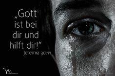 """""""Denn ich, der #Herr, bin bei euch, um euch zu #helfen. Die #Völker, in deren #Länder ich euch vertrieb, lasse ich vom #Erdboden #verschwinden, doch euch #lösche ich nicht aus. Zwar werde ich auch euch #bestrafen, aber nicht mehr als unbedingt #nötig."""" #Jeremia 30:11 #glaubensimpulse"""